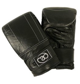 FITNESS MAD Gants de sac Pro cuir Taille XL (Extra Large) Noir