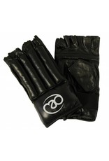 FITNESS MAD Leather Fingerless Bag Glove size M (Medium) Black