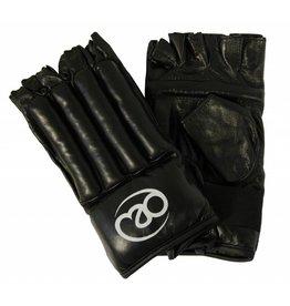 FITNESS MAD Gants de sac en cuir sans doigts taille M (Medium) Noir