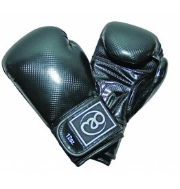FITNESS MAD PU Carbon Sparring Gloves Kick- Bokshandschoenen PU Carbon 10oz Zwart
