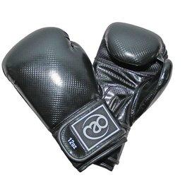 FITNESS MAD PU Carbon Sparring Gloves Kick- Bokshandschoenen PU Carbon 14oz Zwart