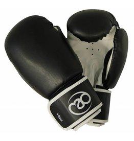 FITNESS MAD Gants de boxe Cuir Synthétique 14oz Noir blanc