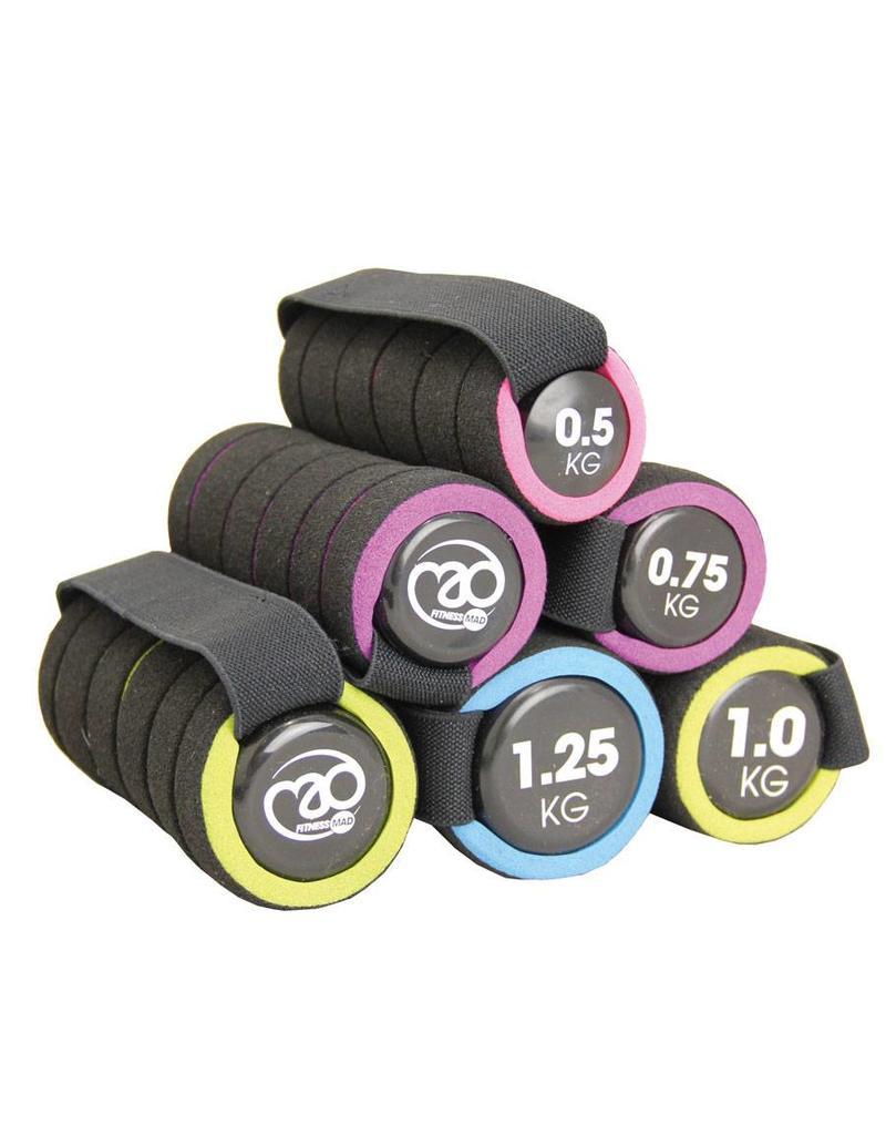 FITNESS MAD Pro Handweight - Aerobic dumbbells 1 kg (2 x 0.5 kg) soft grip Black pink