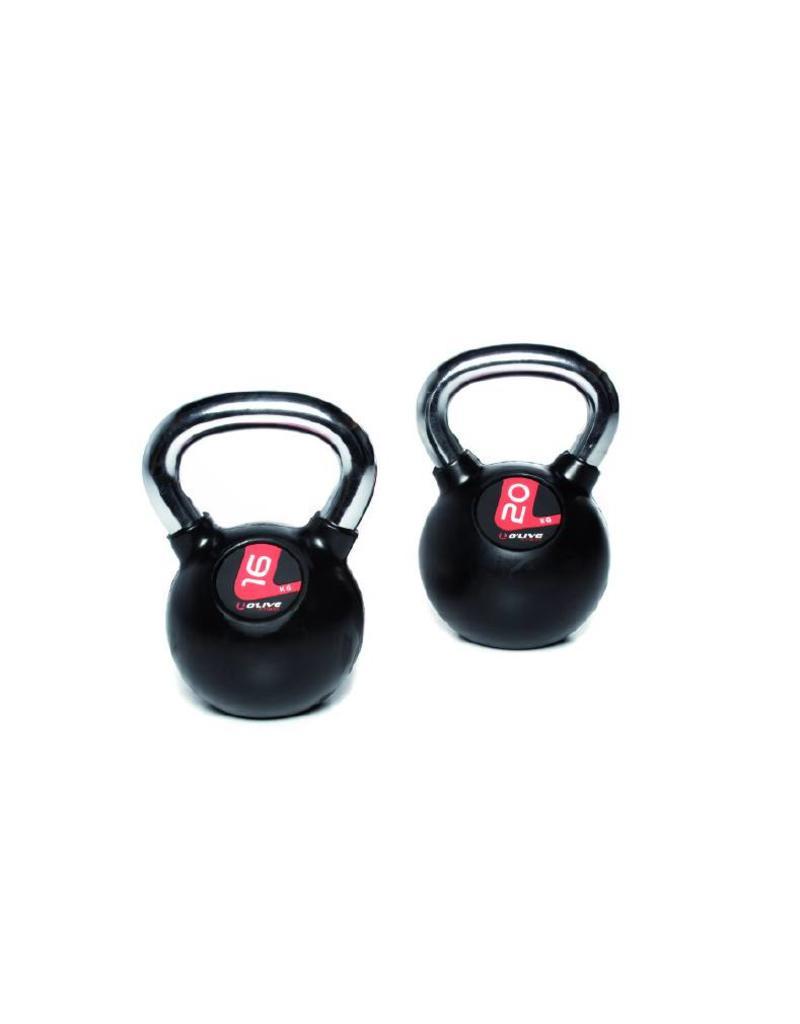 O'LIVE FITNESS O'LIVE KETTLEBELLS KIT C 10 kettlebells rubber + rack MU06400