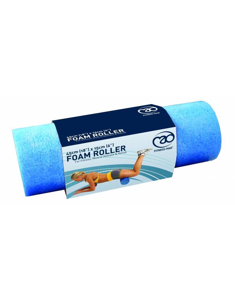 FITNESS MAD Foam Roller Blue Short 45 x 15 cm (0,6 kg)
