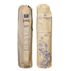 FITNESS MAD Wildflower Yoga Mat Bag 63 x 14.5cm 100% cotton Oat
