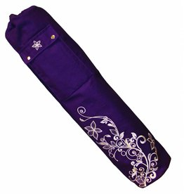 FITNESS MAD Wildflower Yoga Mat Bag 63 x 14.5 cm 100% cotton Purple