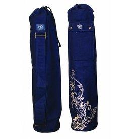 FITNESS MAD Wildflower Yoga Mat Bag 63 x 14.5cm 100% cotton blue