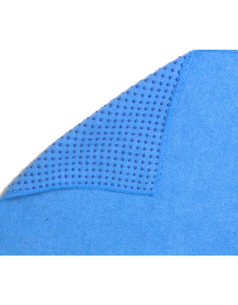 FITNESS MAD Grip Dot Yoga Mat Towel 183 x 60 cm (0.8kg) yoga mat handdoek met siliconen grip dots (phthalate vrij) ideaal voor studio of op reis Blauw