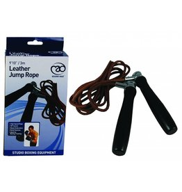 FITNESS MAD Pro Leather Jump Rope 10ft Professioneel verstelbaar leren springtouw 305 cm