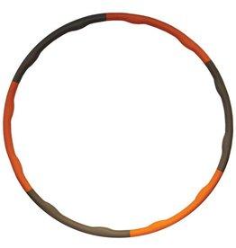 FITNESS MAD Wave Hula Hoop 100 cm Hoelahoep (1.5Kg) Grijs Oranje