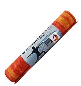 FITNESS MAD Warrior Plus Yoga Mat Fitnessmat 6 mm 183 x 61 cm (1.6kg) Sunset ongeverfd PVC AZO en DOP vrij Oranje