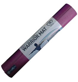 FITNESS MAD Warrior Yoga Mat Fitnessmat 4 mm 183 x 61 cm (1.1kg) PVC AZO en DOP vrij Aubergine Paars