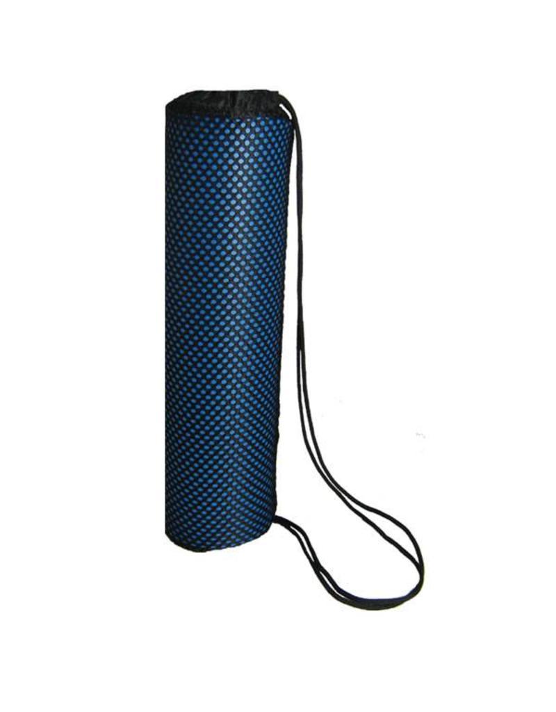 FITNESS MAD Yoga Mat Carrier Bag 67 x 14 cm lichtgewicht draagtas met fijnmazige structuur en trekkoord voor matten tot 65 cm breed en 4 of 5 mm dik Zwart
