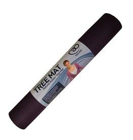 FITNESS MAD Natural Rubber Tree Yoga Mat Fitnessmat 4 mm 183 x 61 cm (2kg) natuurlijk rubber en 100% katoen Aubergine Paars