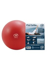 FITNESS MAD Exer-Soft Pilates Coach Balance Ball 9 inch (23cm) Rondo Bal anti-slip Rood
