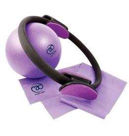 FITNESS MAD Studio Pilates Set met Ring Resistance Band Medium Latex (120 x 15 cm) Exer soft Ball (23cm) trainingsposter