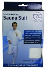 FITNESS MAD Sauna Suit PU (PVC vrij) tweedelig maat L/XL Large Extra large lichaamslengte boven 178 cm Wit