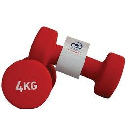 FITNESS MAD Haltères néoprène 4kg (paire) 8Kg (2 x 4.0kg) Néoprène Rouge