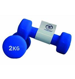 FITNESS MAD Haltères néoprène 2kg (paire) 4Kg (2 x 2.0kg) Néoprène bleu