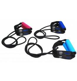 FITNESS MAD Resistance Tube Level 1 Light 130 cm Rubber Nylon Black-Light blue