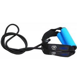 FITNESS MAD Resistance Tube Studio Level 1 Light 130 cm Rubber Nylon without packaging black light blue