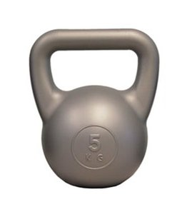 FITNESS MAD Kettle Bell PVC 5.0Kg Zilver