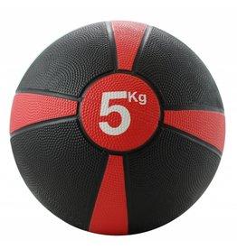 FITNESS MAD Medicine Ball Rubber Waterproof 5 Kg (24cm) Zwart Rood