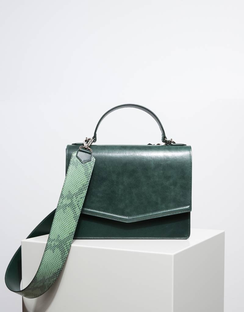 b7b0cbf4e73 Fan handbag forest green - EVI Europe