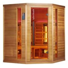 Infra4Health I160c 4 persoons infrarood sauna hoekcabine - infra4health