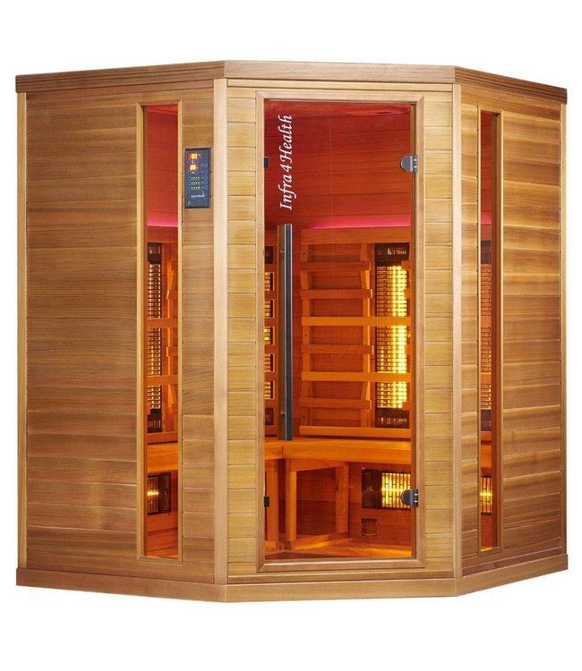 Infra4Health I160c quatre personnes cabine sauna infrarouge - infra4health
