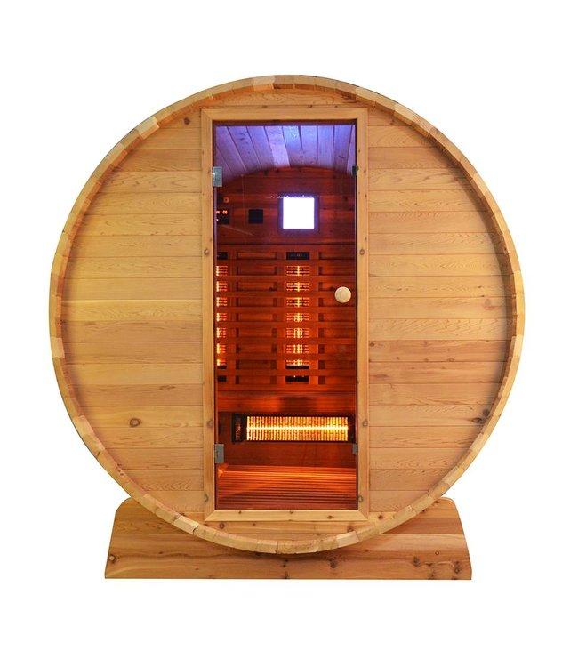 Infra4Health Barrel sauna infrarood KNOTTY