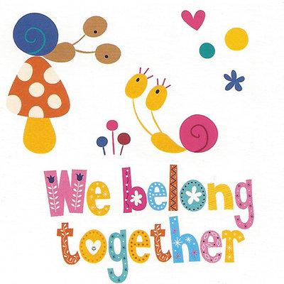 Grußkarte 'We belong together'