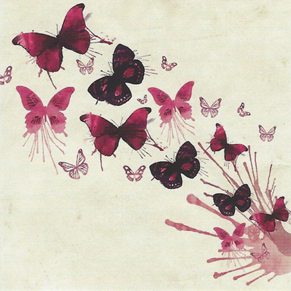 Grußkarte 'Schmetterlinge'
