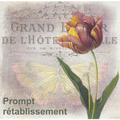 Grußkarte 'Prompt rétablissement'