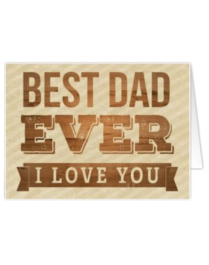 Best Dad Ever (12x17cm)