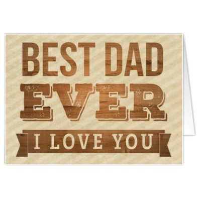 Wenskaart 'Best Dad Ever'