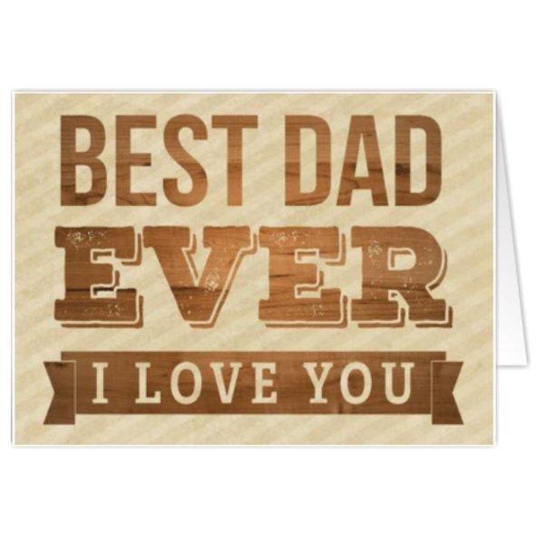 Carte de voeux 'Best Dad Ever'