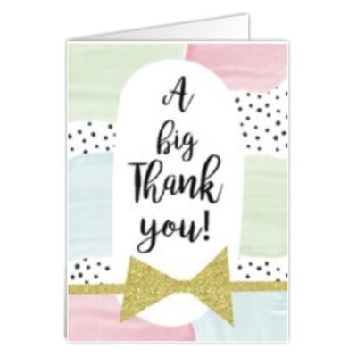 Wenskaart 'A big thank you'