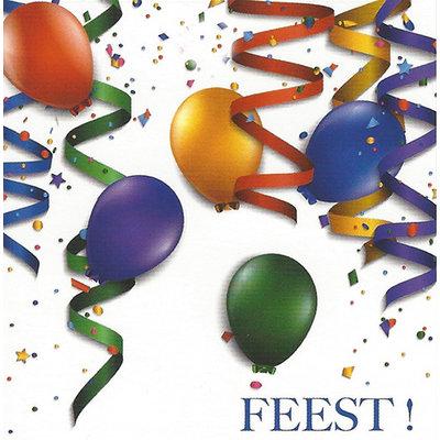 Wenskaart 'Feest!'