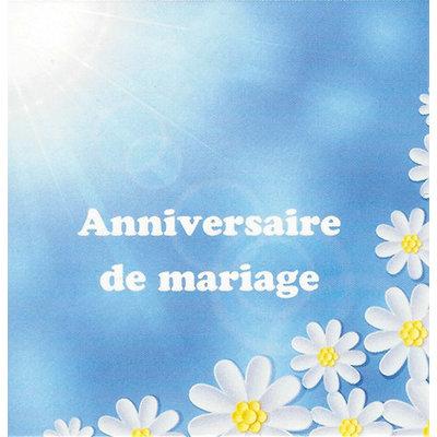 Wenskaart 'Anniversaire de Mariage'