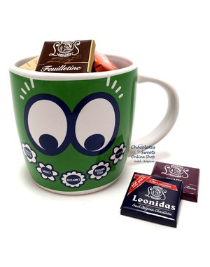 Leonidas Green Mug 'Thank you' Napolitains 250g
