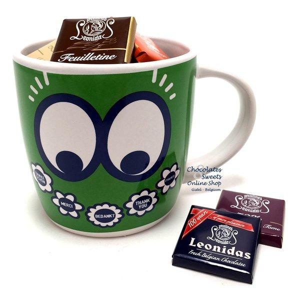 Leonidas Green Mug 'Thank you' Napolitains 250g