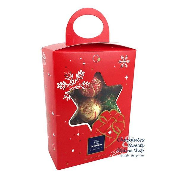 Leonidas Weihnachtsbox mit 20 Festliche Schokokugeln