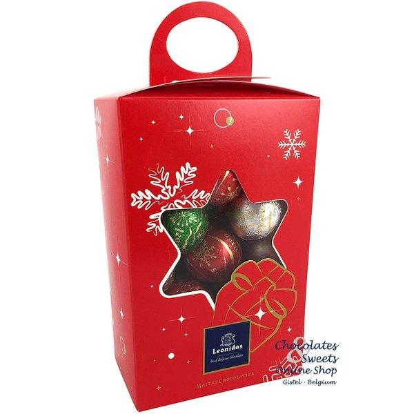 Leonidas Weihnachtsbox mit 28 Festliche Schokokugeln