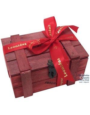 Coffret (rouge) 500g de Chocolats Leonidas