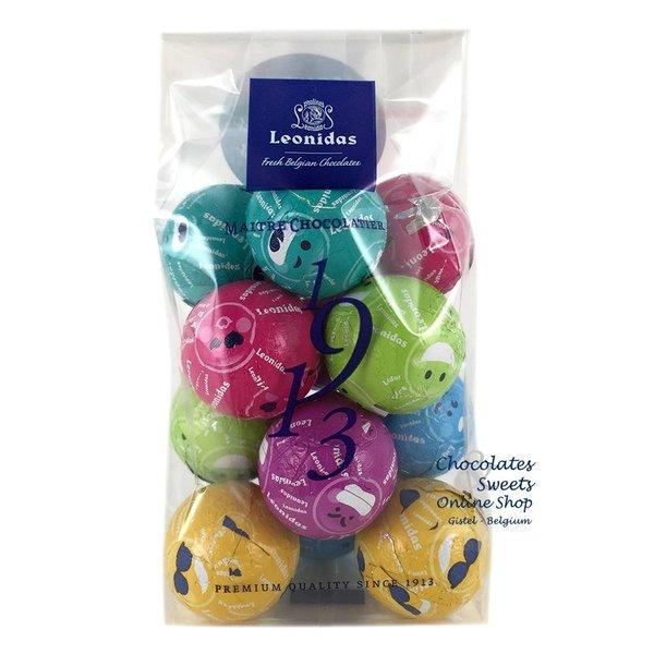Leonidas Cello bag with 12 Fun chocolate balls
