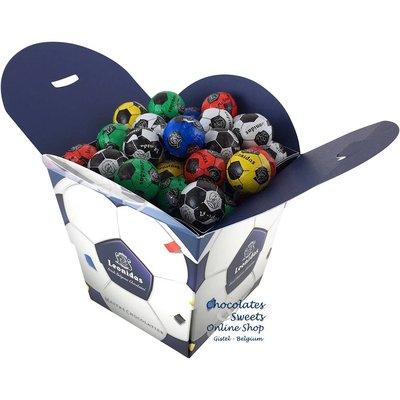 Leonidas Cube with 64 Chocolate Soccer balls