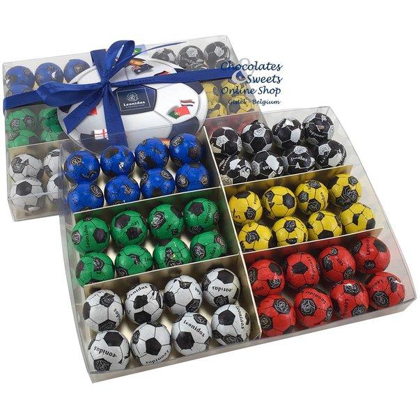 Leonidas Cello box with 48 Chocolate Soccer balls