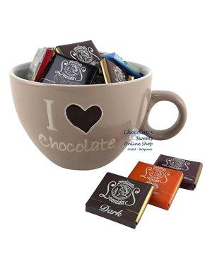 Koffiemok 'I love Chocolate' Napolitains 250g